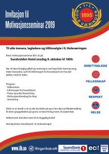 IL Holeværingen invitasjon til motivasjonsseminar 2019